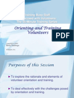 6Orienting and Training