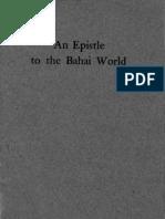 An Epistle to the Baha_i World