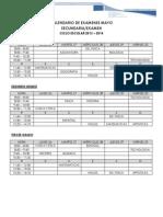 Calendario de Exámenes 2014 Mayo Secundaria