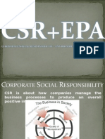 CSR is About How Companies Manage the Business Processes To
