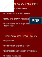 Industrial Policy Upto 1991