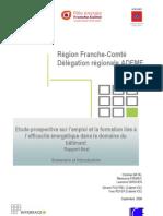 """étude Franche-Comté """"Efficacité énergétique, quels emplois pour demain ?"""" - Sommaire Et Introduction"""
