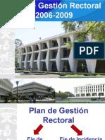 Presentación informe de rectoria Actualizado a Junio 09.