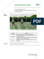 Tennis exercises for agility