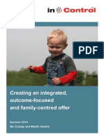 Creating an integrated, outcome-focused & family-centred offer
