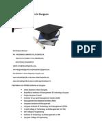 List of MBA Institutes in Gurgaon