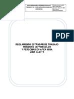 Raglamento de Trabajo Transito de Vehiculos y Personas en El Área Mina
