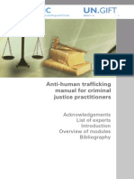 Anti Human Trafficking Manual for Criminal Justice Practiioners