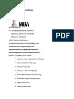 List of MBA Institutes in Noida