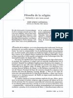 Caffarena - Filosofía de La Religión - Isegoría 1990