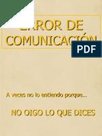 11. Error de Comunicación