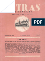 Letras de Sinaloa No. 30 Marzo de 1952