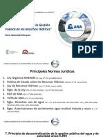 Institucionalidad de la Gestión Pública de los Recursos Hídricos.