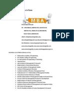 List of MBA Institutes in Pune