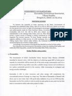 Solar Policy 2014-2021