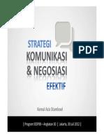 Strategi Komunikasi Dan Negosiasi Yang Efektif