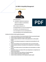 Project Report Titles for MBA in Hospitality Management