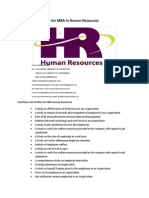 Project Report Titles for MBA in Human Resources