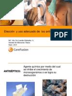 Eleccion y Uso Adecuado de Los Antisepticos Marzo 2014pptx
