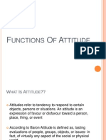 Functions of Attitude