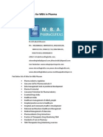 Project Report Titles for MBA in Pharma