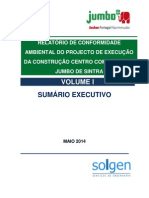 Relatório de Conformidade Ambiental do Projecto de Execução (RECAPE) do Centro Comercial Jumbo de Sintra - Sumário Executivo