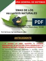 Sistemas de Los Recursos Naturales