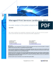 Quocirca Managed Print Services Landscape, 2014