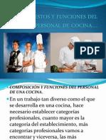 Puestos y Funciones Del Personal de Cocina