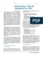Outsourcing and 3PL Selection