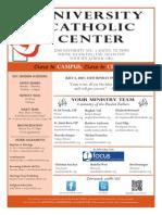 UCC Sunday Bulletin 7-06-2014