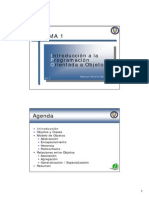 Tema 1 Introducción a La Programación Orientada a Objetos