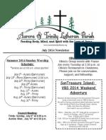 Aurora-Trinity Newsletter July14