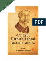 Kent Unpublished Materia Medica
