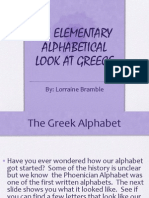 An Elementary Alphabetical Look at Greece
