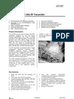 Low Power Sub-1 GHz RF Transmitter