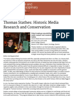 thomas stathes  historic media research and conservation   cuny baccalaureate for unique and interdisciplinary studies