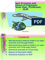 Balance of Payments and Open Economy