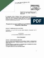 Proyecto de Ley 3634 2013 Ley Del Artista