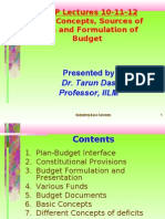Budget Preparion Methodology in India by Tarun Das
