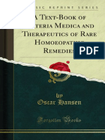 A Text Book of Materia Medica and Therapeutics of Rare Homoeopathic Remedies by Oscar Hansen