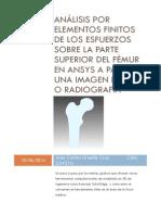 Análisis Por Elementos Finitos de Los Esfuerzos Sobre La Parte Superior Del Fémur en Ansys a Partir de Una Imagen de Tac o Radiografía