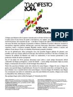 MANIFESTO 2014 - 800 anos da Língua Portuguesa