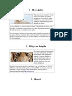 Animales y Plantas en Peligro de Extincion en Guatemala