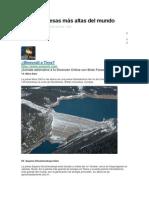Las 10 Represas Más Altas Del Mundo