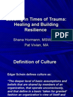 Organizational Trauma and Healing