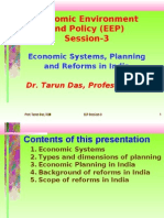 Economic Systems, Planning and Reforms in India