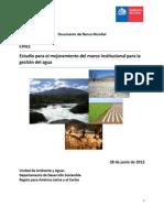 Chile DGA Estudio Para El Mejoramiento Del Marco Institucional Para La Gestion Del Agua