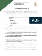 Lista de Exercicios - Programacao - 4
