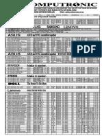 Computronic Laptop & Desktop Price List